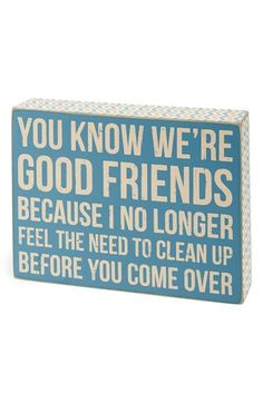 PRIMITIVES BY KATHY 'We're Good' Box Sign available at #Nordstrom