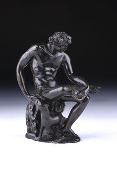 Italian bronze, Bacchus and His Panther, 19th century.
