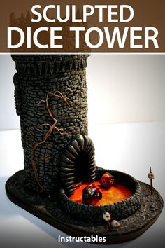 Make a sculpted dice tower out of clay and various up cycled materials. #Instructables #sculpting #game #toy #DnD