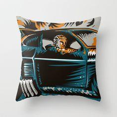 Mad Max Throw Pillow by Francesco Dibattista - $20.00