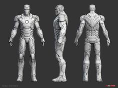 Iron Man 3 - Armor Mark 42 wireframe by 3d Model Character, Character Sheet, Character Modeling, Character Design, Zbrush Character, Character Reference, Taktischer Helm, Mode Man, Iron Man Art