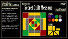 Make Your Own Secret Quilt Message. 3rd grade standards: Civil war, and freedom quilts