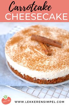 Cake nature fast and easy - Clean Eating Snacks No Bake Desserts, Delicious Desserts, Dessert Recipes, Yummy Food, Carrot Cake Cheesecake, Cheesecake Recipes, Bakery Cakes, Piece Of Cakes, Savoury Cake