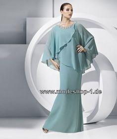 Festliches Abendkleid Online in Himmel Blau