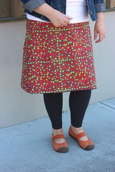 The Reversible Cerisy Skirt by pink chalk studio, via Flickr on the Pink Chalk Studio blog.  Made by Diana
