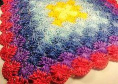 crochet floor rug made of plastic bags