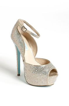 "Betsey Johnson 'SB-Kiss' Sandal available at #Nordstrom-I need these-blue bottoms for my ""something blue"""