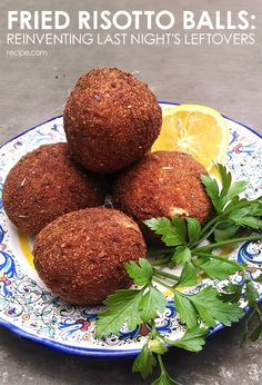 Cook once, eat twice with fried risotto balls.