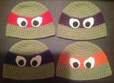 Ninja turtle crochet hats