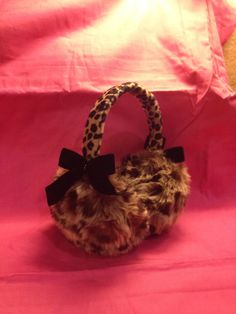 Items similar to Fur Earmuffs with Ribbon and Crystals. on Etsy Earmuffs, Leopards, Shawls, Spice, Glitter, Craft Ideas, Sugar, Coats, Trending Outfits