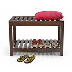 Marco Luggage Bench (Mahogany Finish)