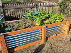 galvanized metal raised beds DIY