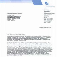 Offener Brief des Verbandes deutscher Archivarinnen und Archivare e.V.