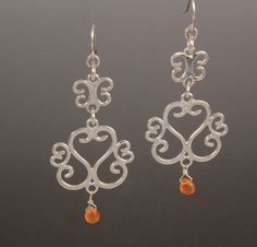 Natalie Nichols Jewelry: Chandelier  Earrings sterling silver carnelian