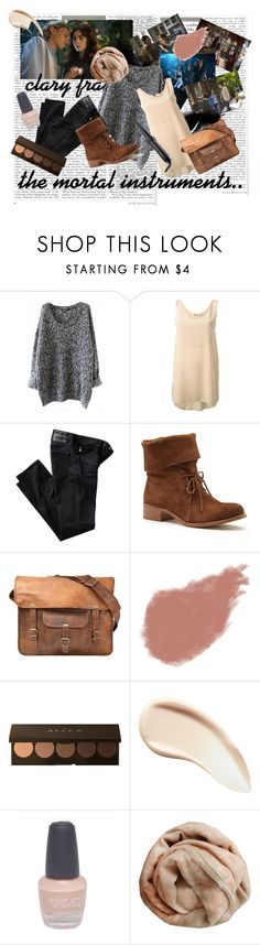 the mortal instruments, clary fray outfit by elena-light178 on Polyvore featuring Chloé, AG Adriano Goldschmied, Matisse, CO, Brunello Cucinelli, Becca, Bobbi Brown Cosmetics, Burberry, Wet Seal and Cloud Nine