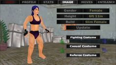 GIGANTARELLA the tallest female MMA fighter ever created in a game