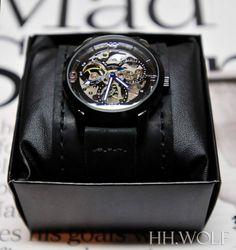 Men's Automatic Skeleton Watch -  Handmade Leather Straps - SALE  - Worldwide Shipping - Skeleton Watch
