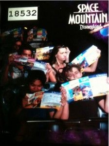 I guess Space Mountain wasn't as thrilling as they warned, these people are already looking for there next ride.
