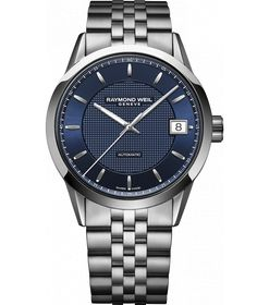 RAYMOND WEIL Genève > Freelancer Mens Watches - Automatic day-date Steel on steel black dial Gents Watches, Casual Watches, Cool Watches, Rolex Watches, Watches For Men, Black Watches, Dream Watches, Stainless Steel Watch, Stainless Steel Bracelet