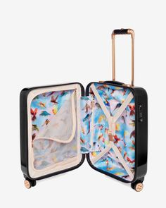 Small cascading floral suitcase - Black | Bags | Ted Baker UK