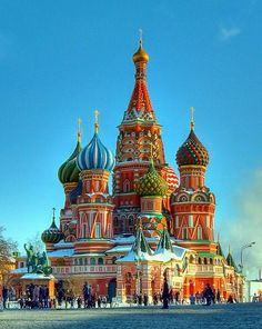 St. Basil's Cathedral in Moscow, Russia.