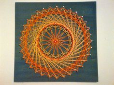 I really like this! Abstract Sun String Art