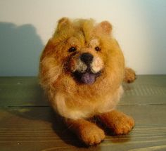 This listing is for one custom made dog pet portrait sculpture. I make each dog to order and can make any breed of dog. The Chow Chow in the photos is a sample of my dog sculptures and already has a home.  I can make your Chow Chow or any breed of dog using your photos for reference.  The finished size is about 5 inches long excluding the tail.  Price is per sculpture.  Thank you for your visit ! Please feel welcome to email me