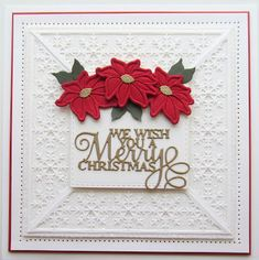 PartiCraft (Participate In Craft) Snowflake Cards, Snowflakes, Wish You Merry Christmas, Christmas Sentiments, Sue Wilson, Paper Crafts, Diy Crafts, Poinsettia, Christmas Traditions