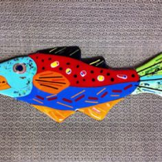 Whimsical fused glass fish for the non-sporting class!