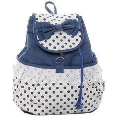Cool! Fresh Sweet Dot Lace Bow Backpack just $30.99 from ByGoods.com! I can't wait to get it!