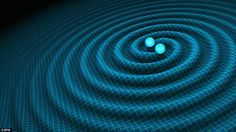 An artist's impression of gravitational waves generated by binary neutron stars released b...