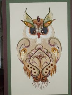 Embroidery on paper. Work of Margaret Roolker