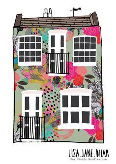 'London House' by Lisa Jane Dhar for Studio Noodles