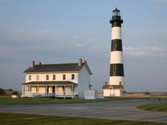 10 best lighthouses around the USA: Bodie Island, a beacon in the Outer Banks, N.C, was renovated last year, opening the tower for climbing. Went this summer 2015 and I loved it! It truly is so pretty to see. Marblehead Lighthouse, Bodie Island Lighthouse, Lighthouse Photos, Great Vacation Spots, Vacation Places, North Carolina Lighthouses, Outer Banks Beach, Mysterious Places, Light Of The World