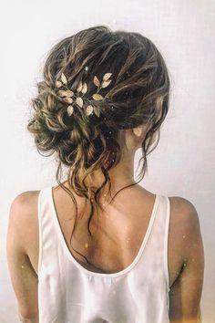 Wedding Hairstyles For Long Hair, Wedding Hair And Makeup, Bride Hairstyles, Down Hairstyles, Romantic Wedding Hair, Up Dos For Wedding, Hair Ideas For Wedding Guest, Wedding Hair With Braid, Medium Length Wedding Hair
