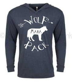 Wolf Pack Hoodie - Mama Wolf Hoodie -Wolf Pack Top - Mama Wolf Top - Matching Outfits - Gifts for Mom - Wolf Shirt - Woodland Outfit by GypsyJunkClothing