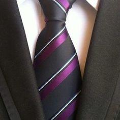 Paisley Purple And White stripes Silk Mens Tie Jacquard Woven Classic Ties For Men Gravata Corbatas Wedding Neckties Wedding Men, Wedding Suits, Purple Bow Tie, Fashion Pattern, Casual Tie, Grey Tie, Gray, Men Formal, Yellow Stripes