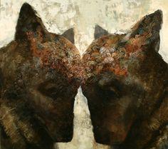 Common Acryl and oil on canvas, X Artist: Samuli Heimonen What Is Contemporary Art, Modern Art, Ghost In The Machine, Bear Art, Visionary Art, Art Studies, Community Art, Figure Painting, Pet Birds