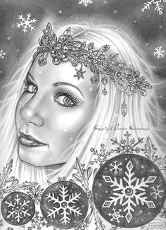 Frost Angel by Queenofchaoss on DeviantArt Bristol Board, Frost, Sci Fi, Princess Zelda, Deviantart, Fantasy, Drawings, Artwork, Fictional Characters