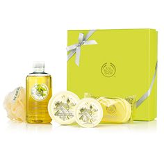 Pick the perfect gift with this fabulous box set that contains a selection of delicate moringa scented goodies. The Body Shop, Body Butter, Body Scrub, Shower Gel, Delicate, Lily, Soap, Goodies, Gifts