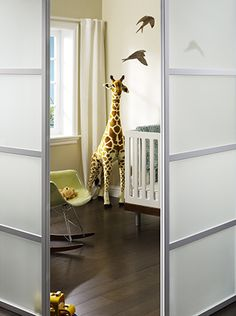 sliding room divider. Want something similar to divide the laundry room into part work space!