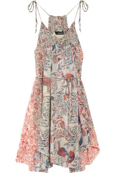 Isabel Marant - Vick printed silk-georgette dress