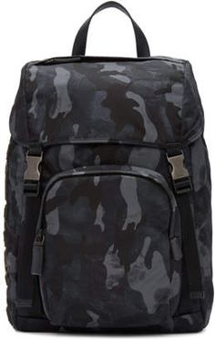 1aa5a5fc1089 Bags For Men - ShopStyle UK. Prada Blue Camouflage Character Backpack