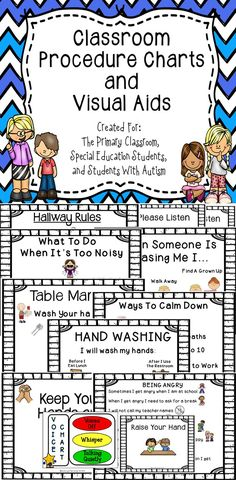 This is a set of visual aids for the classroom.  These work great in primary classrooms, special education classrooms, and for students with autism.  #educcation