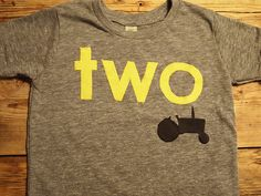 Tractor Shirt Perfect For Farm Truck Or Party Boys Birthday Custom Organic Blend Yellow Black