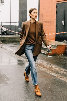 This Street Style Star Opts For Brown This Season