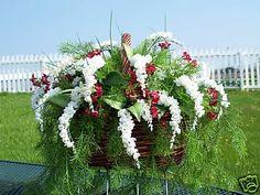 Grave Cemetery Tombstone Saddle Basket White Wisteria | eBay