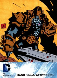 Deathstroke DC New 52 Trading Card by Adam Cline