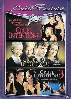 CRUEL INTENTIONS  1 2 3  - NEW Rene Witherspoon, Ryan Philippe, Sarah Mic Geller