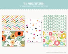 Free Project Life 4x6 Patterned Cards